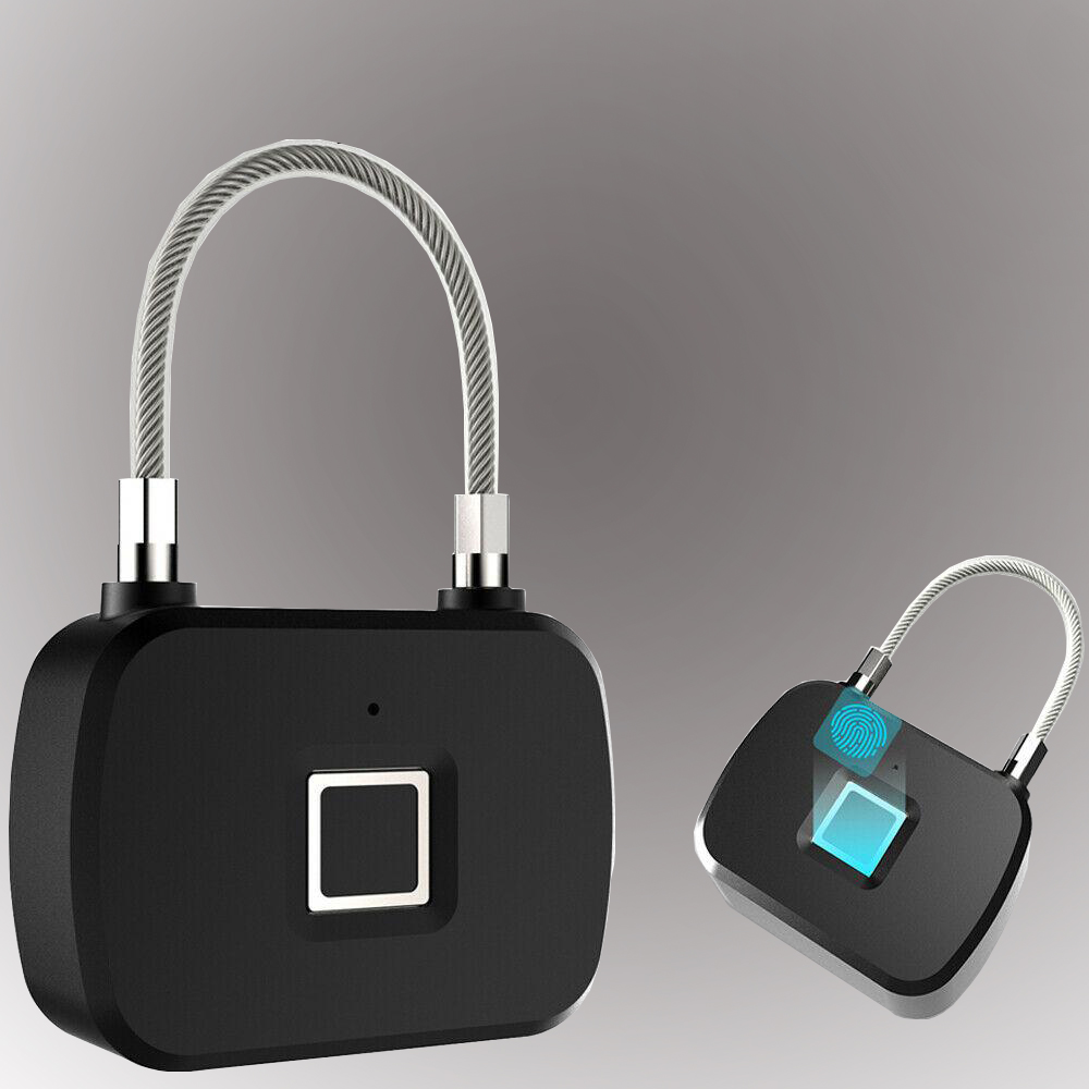 L13 Fingerprint Lock Smart Keyless Anti-Theft Biometric Electronic Padlock For Travel Suitcase Bicycle Finger Print Door Lock