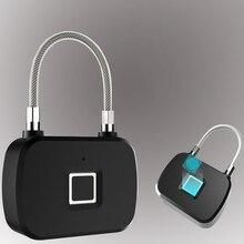 L13 blokada z użyciem linii papilarnych inteligentny bez przycisków zabezpieczenie przed kradzieżą biometryczna elektroniczna kłódka na walizka podróżna odcisk palca rowerowego