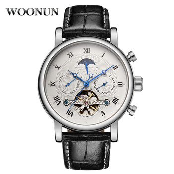 Luxury Tourbillon Watches Men Automatic Mechanical Wristwatches Moon Phase Watch Waterproof Shockproof Relogio Masculino 2020 relogio masculino sekaro moon phase mens watches top brand luxury gold men watch automatic mechanical leather wristwatches