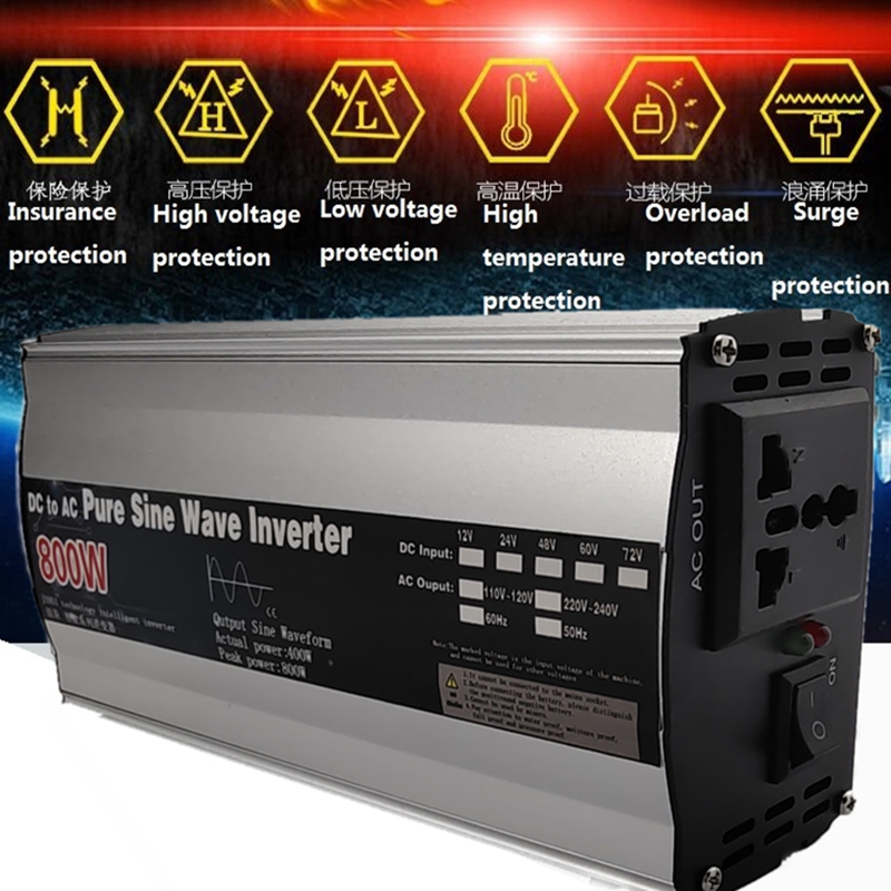 Pure Sine Wave inverter 12V/24V to AC 110V 220V 1600W/2200W/3000W Voltage transformer Power Converter solar inverter LED display