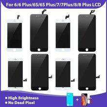 1 חתיכה מגע Digitizer מסך תצוגת LCD עבור iPhone 6 6S 7 8 בתוספת הרכבה