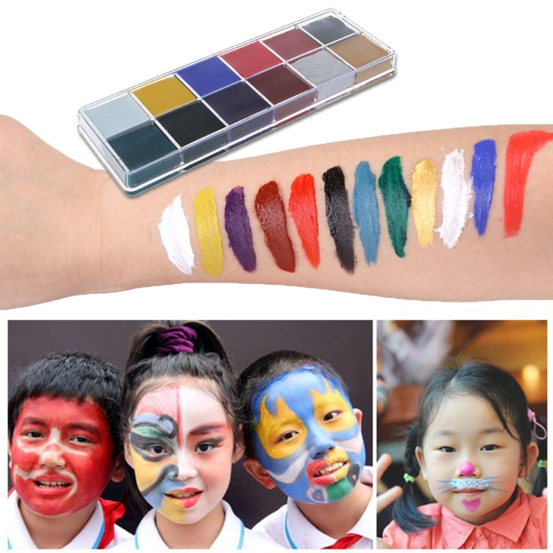 Professional Face Body 12 Colors Oil Painting Paint Pigment For Beauty Kit Makeup Cosmetic Supplies