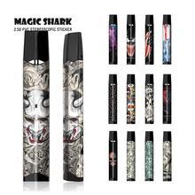 цена на Magic Shark USA Flag Batman Boom Money Venum Evil PVC Bumpy Vape Sticker Film Skin Case Cover for Smok Infinix