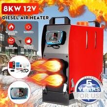 Tudo em um calefator 1kw-8kw ajustável 12v 4 furos do carro de diesels do ar aquecedor para caminhões motor-casas barcos ônibus + interruptor chave lcd + remoto