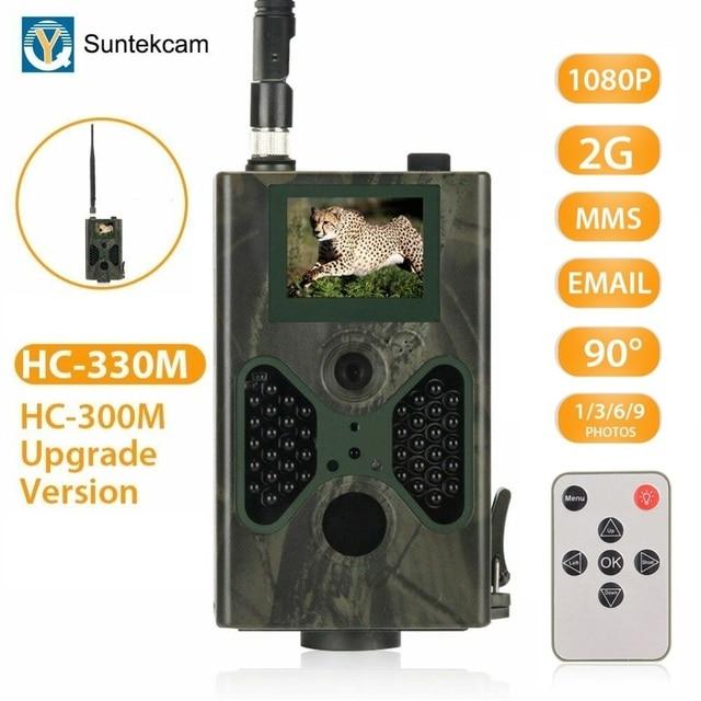 2G caméra de chasse Celluar sans fil MMS SMS SMTP caméras de traînée 16MP 1080P Vision nocturne caméra faunique piège Photo HC330M