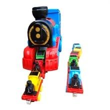 LEGAO THOMAS Pull Back inertial train set simulation model toy car music sound luminous