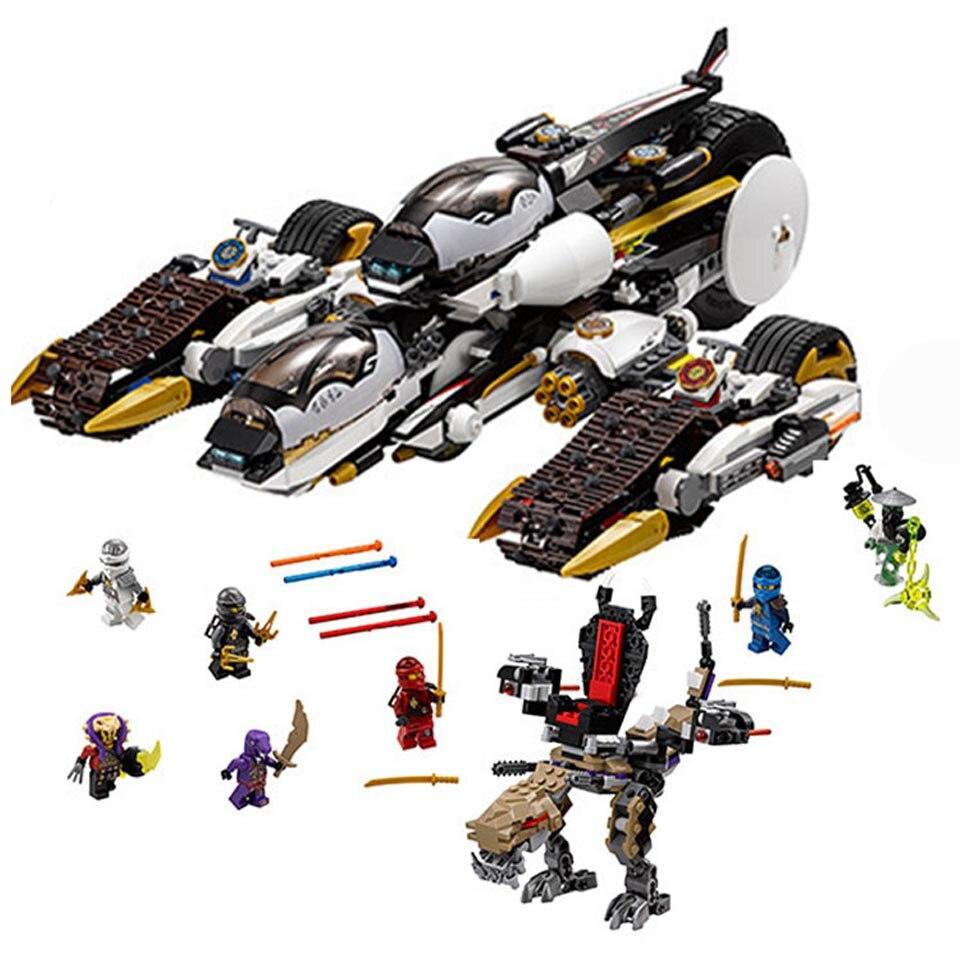 2020 New 1146pcs Ninja Ultra Stealth Raider Building Blocks Fit Ninjagoes 70595 Bricks Bricks Toys For Children Gift 1