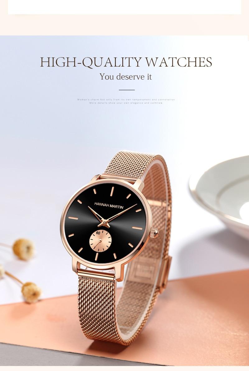 Senhoras pequeno mostrador relógio de quartzo à