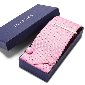 New Design Slim Tie Set for Men Skinny 7.5cm Handkerchief cufflinks Necktie Man Corbatas Hombre Wedding set