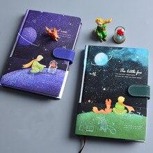 Carnet de notes Le Petit Prince, modèle Kawaii, bouton magnétique, agenda de voyage, DIY bricolage, manuel en papier coloré, fournitures scolaires pour enfants