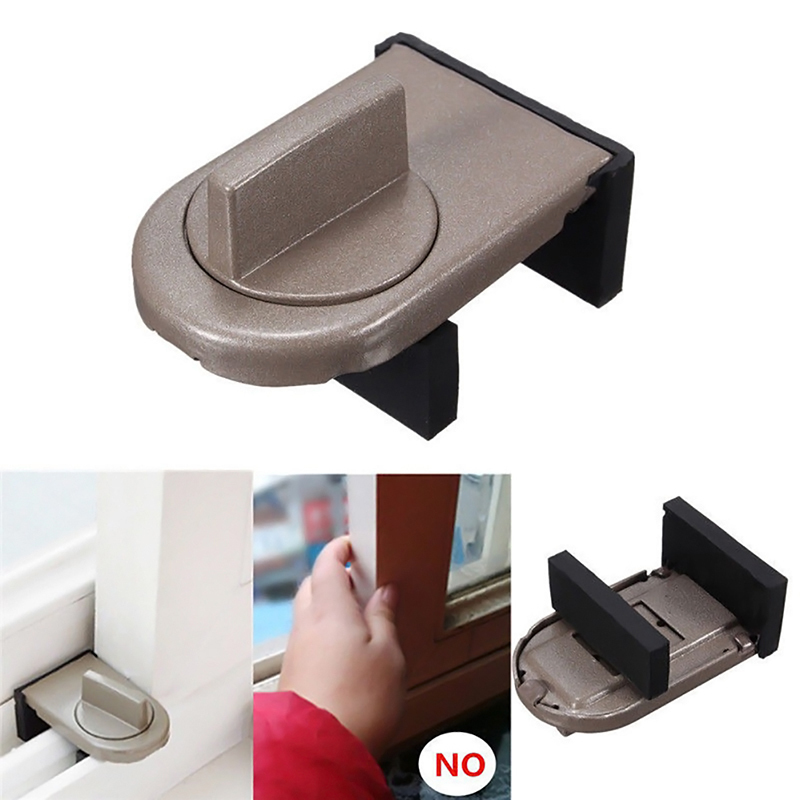 Sliding Sash Stopper Cabinet Locks Straps Doors Security Anti-theft Lock Window Sliding Door Baby Kids Child Safety Doors Lock