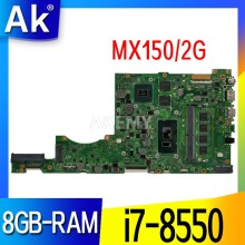 X411UN For Asus X411 X411U X411UN X411UA Laptop anakart X411UN anakart test W/ 8GB-RAM i7-8550 CPU MX150/2G(China)