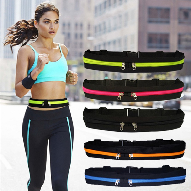 Running Phone Bag Women Outdoor Sports Stretch Waist Bag Men Multi-function Waterproof Anti-theft Invisible Multiple Colors