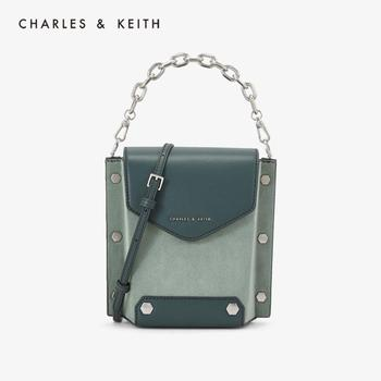 CHARLES&KEITH New Arrival for Spring 2020 CK2-11190001-1Women's Handbag Shoulder Bag Decorative Metal Rivets