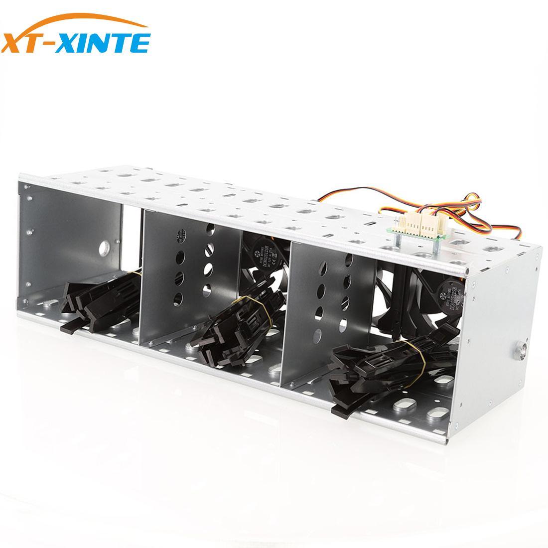 """XT XINTE 15 Bay 3,5 """"SATA SAS HDD Disco Duro jaula de bandeja Caddy bandeja estante soporte para 15x3,5 pulgadas jaula de unidad de disco duro servidor de PC DIY"""