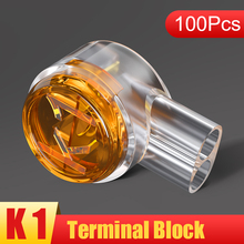 SAMZHE K1k2Connector Crimp Connection Terminals K1k2 Connector Waterproof Wiring Ethernet Cable Telephone Cord Term 100pcs