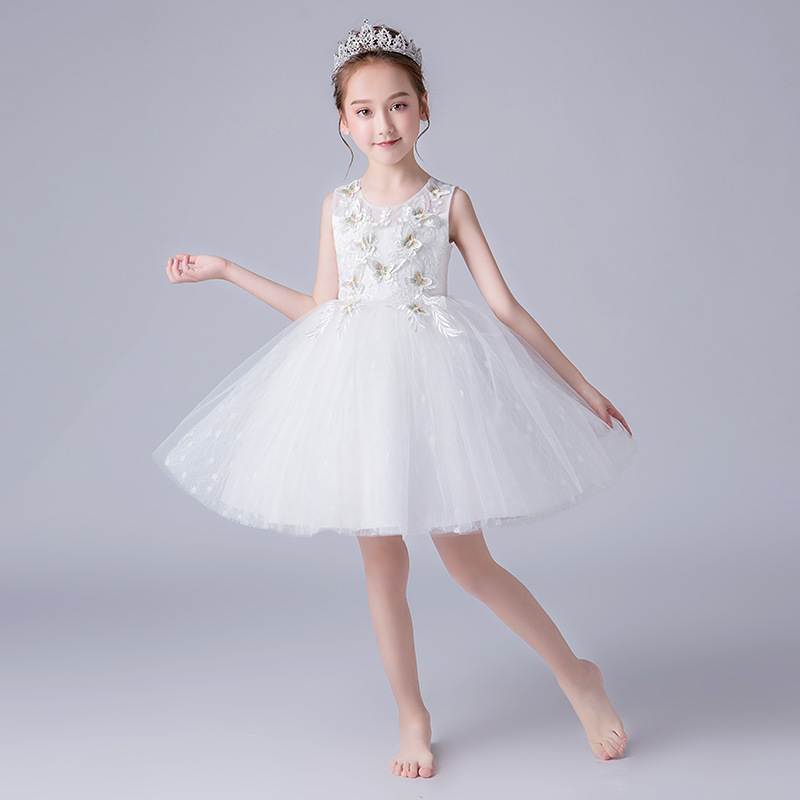 2019 Summer New Style Children Evening Dress Girls Piano Costume T Stage Catwalks Clothing