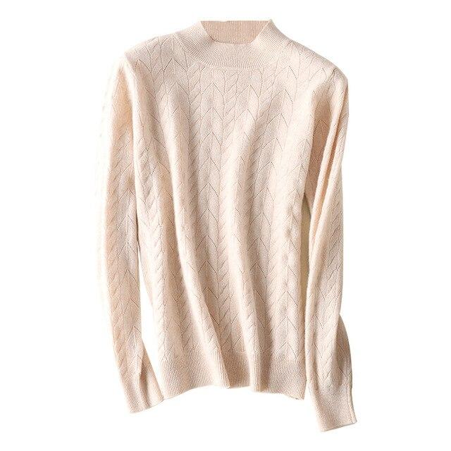 Купить новинка полый шерстяной свитер с высоким воротником женский картинки цена