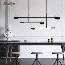 Scandinavian minimalist restaurant chandeliers post-modern coffee shop decorative lights line lamp