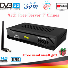 Full HD 1080P H.264 Digital TV Tuner DVB-S2 V6 Super Mini Satellite Receiver AC3 Youtube WIFI Cccam Server For Satellite Decoder dvb t2 dvb t h 264 full 1080p mpeg 2 4 digital tv tuner iptv m3u hd set top box support youtube meecast terrestrial receiver