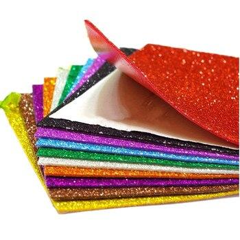 5sheets Sticker Sponge Paper Foam Glitter Flash Gold Handmade EVA Craft Kindergarten DIY Sheets Mix Color