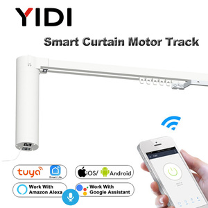 Image 1 - Wifi Smart Automatic Curtain Control System Smart life Motorized APP remote voice control Curtain motor track rail