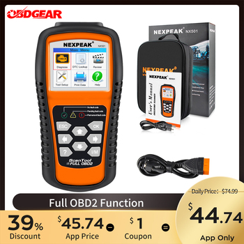 2020 New OBD2 Car Scanner Full ODB 2 Auto Diagnostic Scanner Nexpeak NX501 Auto Diagnostic Tool ODB2 Better Than  Launch CR5001 launch x431 pro mini with bluetooth function full system 2 years free update online mini x 431 pro powerful auto diagnostic tool