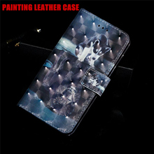 Cartoon Painting Flip Leather Case For Samsung Galaxy Note 9 10 Pro M10 M20 M30 M40 A20E A2 Core Soft Silicone Capa