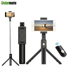 3 em 1 sem fio bluetooth smartphone selfie vara para iphone samsung huawei xiaomi com tripé extensível monopod selfie vara