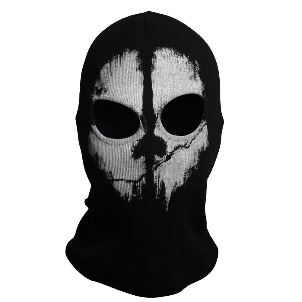 Balaclava Hood Face Ghost Skull Mask Call Of Duty Biker Halloween Skateboard Cos Riding Mask image