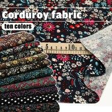 100*150cm baskı kadife kumaş yumuşak pamuklu kadife kumaş Diy dikiş giysi masa örtüsü çanta kanepe el sanatları malzemeleri