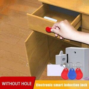 Image 1 - قفل ذكي لخزانة درج الاستشعار الذكية التعريفي خزانة باب خزانة ملابس قفل VDX99
