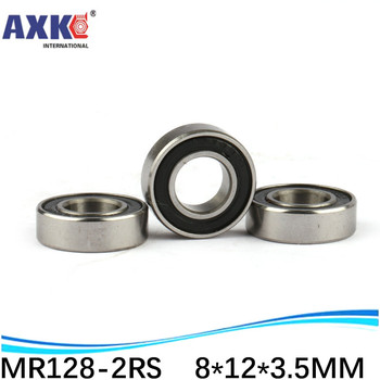 AXK sale price High quality double rubber sealing cover miniature deep groove ball bearing MR128-2RS 8*12*3.5 mm image
