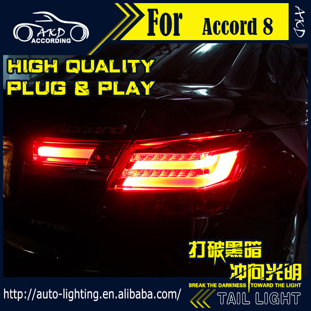 AKD Car Styling Tail Lamp for <font><b>Honda</b></font> <font><b>Accord</b></font> Tail Lights 2008-2012 LED Tail Light LED Signal LED DRL Stop Rear Lamp <font><b>Accessories</b></font> image