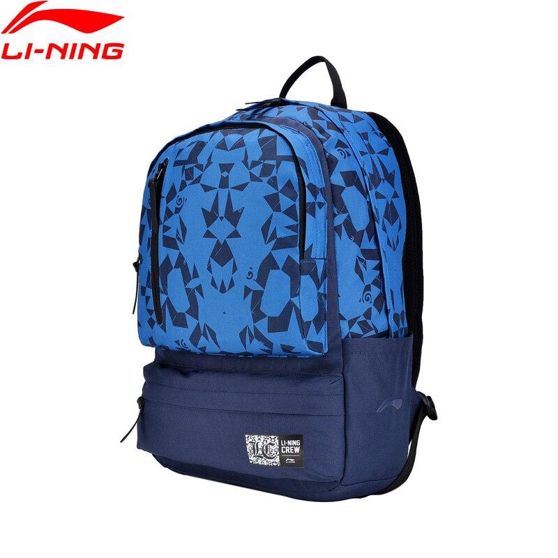 Li-Ning Unisex Backpack Polyester The Trend Classic Sports Life Bag Comfort Zip LiNing Li Ning Sport Backpack ABSN066 BBF248