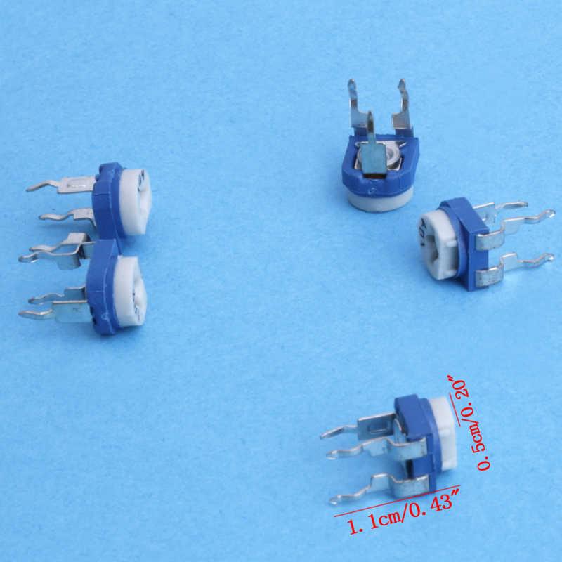 65 adet 13 değerleri potansiyometre Trimpot değişken direnç çeşitler kutusu kiti yeni