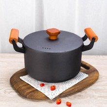 Newest 4.5L Large Cast Iron Soup Pot Stockpot Top Quality Nonstick Cooking Pan Kitchen Saucepan For Gas Stove & Induction Cooker