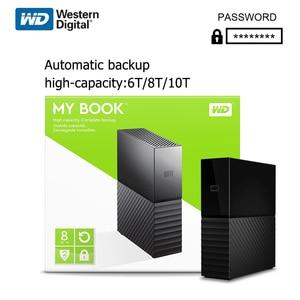 Western Digital My Book 10TB 8TB 6TB 3.5' Desktop External Hard Drive WD HDD USB 3.0 Hardware Encryption High capacity storage