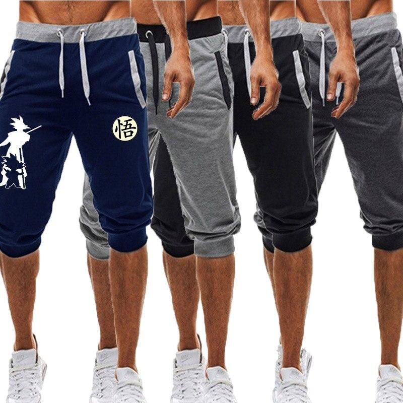 Summer New 2020 Man's Shorts Casual Shorts Fashion Dragon Ball Goku Print Sweatpants Fitness Short Jogger Male Clothing M-3XL