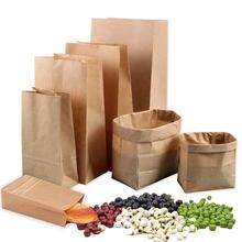 Коричневые пакеты из крафтовой бумаги квадратный пакет для упаковки