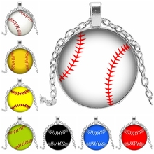 2019 Hot Dynamic Glass Convex Round Various Spherical Pattern Alloy Necklace Pendant