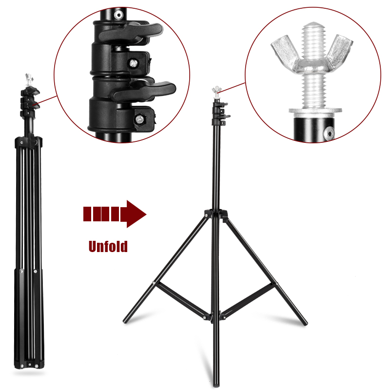 Image 3 - Photography Background Backdrop Stand Support System Kit for Photo Studio Muslin Backdrops, Paper and Canvas with  Carrying Bag-in Background from Consumer Electronics