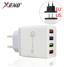 5 Colors US/EU plug Mobile Phone Charger 5V/3.1A Quick Charge 3.0 4 ports USB Charger Fast Charging Universal Wall Phone Charger quick charge 3 0 usb charger travel for iphone samsung micro usb type c fast charging 3 ports eu us plug mobile phone charge