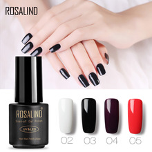 Buy ROSALIND Gel Nail Polish Gel Varnish hybrid 7ML Soak-Off Vernis Semi Permanent UV Nails Glue All For Manicure Base Coat Gel directly from merchant!