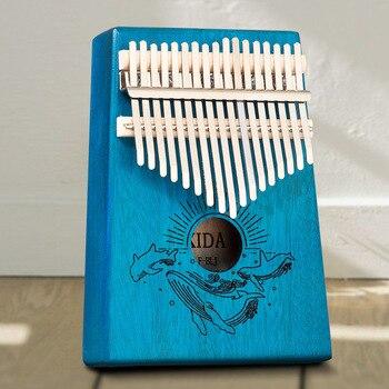 Kalimba 17 key Piano Beautifully Musical Instruments Mahogany Thumb Piano popular beginner Give 1 set of accessories