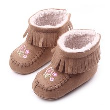 Winter Boots Infant Toddler Newborn Cute Cartoon Shoes Baby Girls Boys First Walkers Super Keep Warm Snowfield Booties Boot(China)
