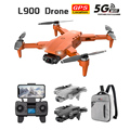 L900 PRO GPS Drone 4K Dual HD Camera Professional Aerial Photography Brushless Motor Foldable Quadcopter RC Distance1200M