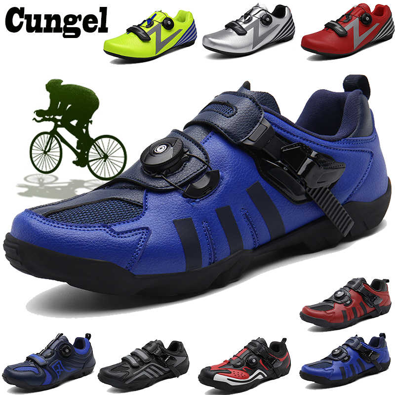 Cungel Cycling Shoes Mtb Man Women Racing Bicycle MTB Shoes Mountain Bike Sneakers Professional Self-locking Breathable