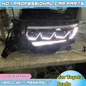 Image 4 - 도요타 프라도에 대한 자동차 액세서리 전체 헤드 라이트 2018 새로운 프라도 전체 LED 헤드 라이트 LED 헤드 램프 DRL 낮은 높은 빔 모든 Bi LED