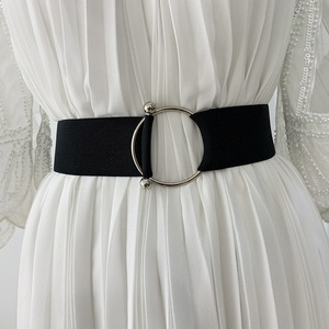 Belts for Women Simple Waist Elastic Ladies Band Round Buckle Decoration Coat Sweater Fashion Dress Waistband